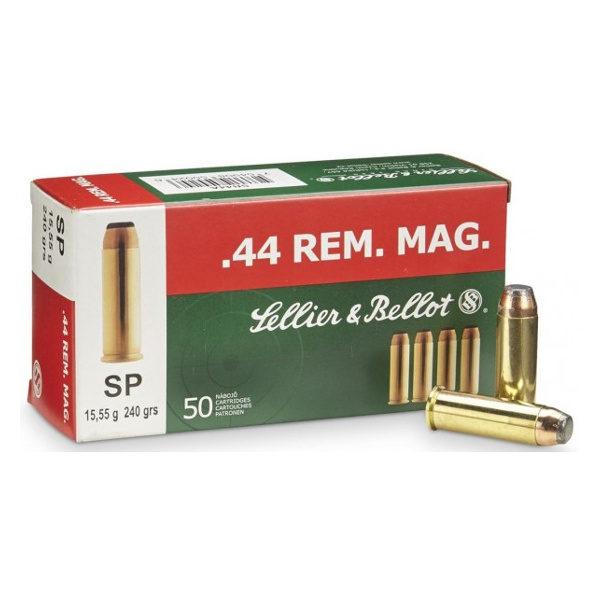 SELLIER ET BELLOT MUNITION 44 Remington Magnum Soft Point BERNIZAN
