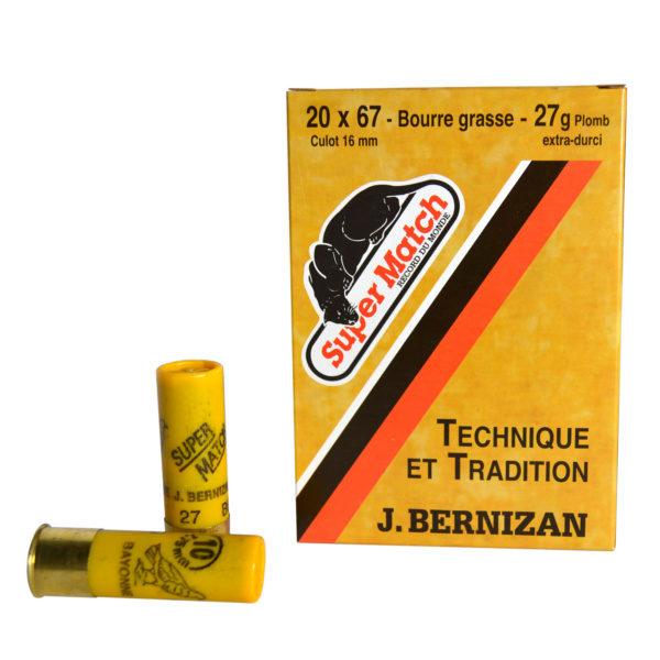 SUPER MATCH Cartouche de chasse JAUNE BG Cal.20X67 BERNIZAN