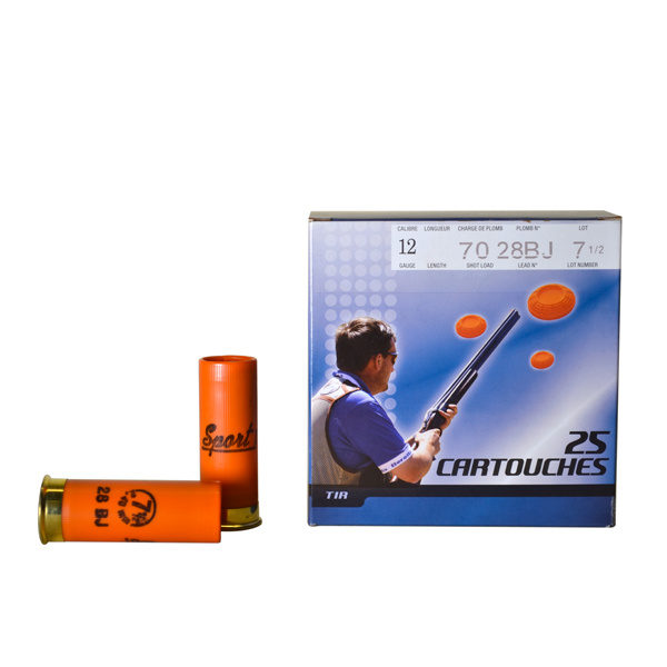 Cartouche SUPER MATCH Orange Sport I Cal. 12x70 BERNIZAN